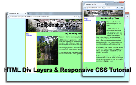 Responsive CSS Tutorial using Notepad