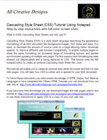Cascading Style Sheet Tutorial using Notepad