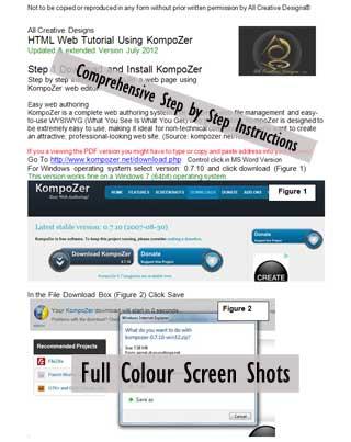 Kompozer Tutorial Web Page Design Html Css Free Pdf Download