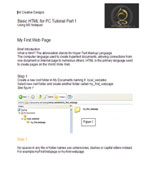 Basic HTML Tutorial Part 1 PDF Download Page