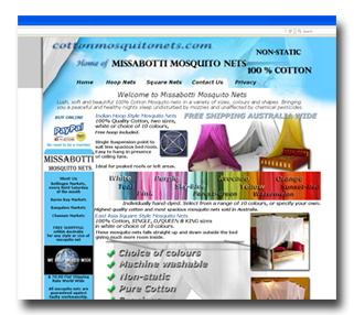 Basic E-commerce website Cotton Mosquito Nets