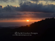 Canyon lookout Sunrise Springbrook Queensland
